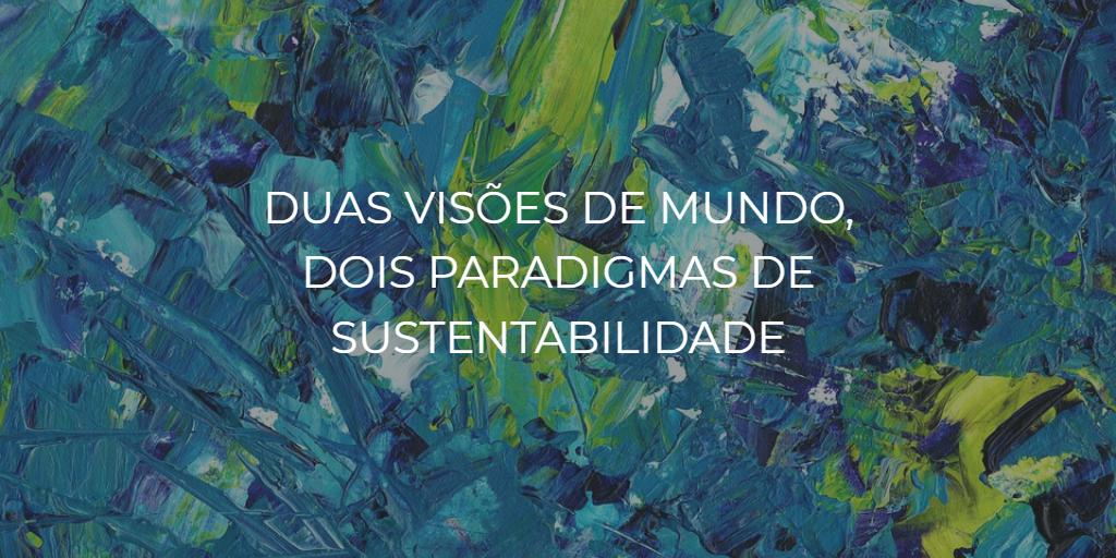 Duas visões de mundo, dois paradigmas de sustentabilidade